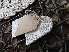 Darčeky pre svadobčanov - Svadobné magnetky - čipkovance veľké:-) - 7866476_