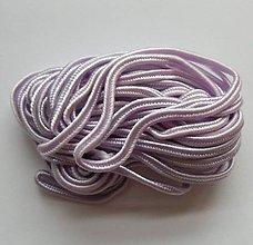Galantéria - S60 - sutaška, 5 metrov, šírka 3 mm - jemná fialová - lila - 7863409_