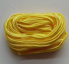 Galantéria - S50 - sutaška, 5 metrov, šírka 3 mm - žltá - 7865336_
