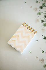 Papiernictvo - Mini notes Chevron - 7867532_