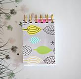 Papiernictvo - Mini notes Listy - 7867536_