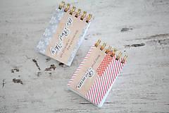 Papiernictvo - Mini notesy - SADA - 7867562_