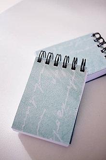 Papiernictvo - Mini notes Tyrkys - 7867592_