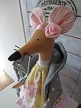Bábiky - Myška žltá - 7864294_