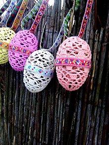 Dekorácie - Veľkonočné vajíčka s folklórnymi stužkami - 7867307_