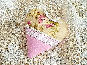 Darčeky pre svadobčanov - Svadobné srdiečka béžovoružové - 7866875_