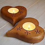 Svietidlá a sviečky - Svietnik srdce s motívom - 7863582_