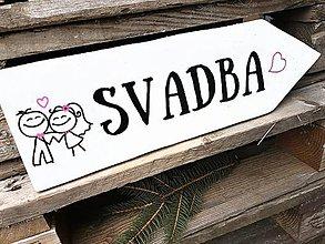 Tabuľky - Svadba šípka - 7867242_