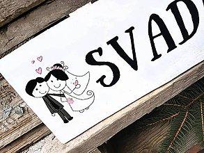 Tabuľky - SVADBA šípka - 7867343_