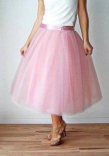 Sukne - Púdrovo-ružová pre družičky - 7863277_