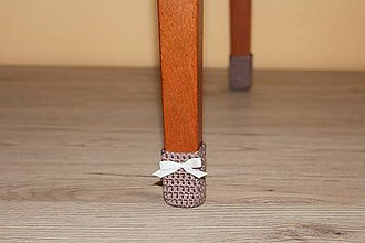 Úžitkový textil - Škoricové papučky (sada pre 4 stoličky) - 7865981_