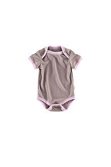 Detské oblečenie - Rostoucí body krátký rukáv 100%LETNÍ merino:6barev (56-62/68) - 7865618_
