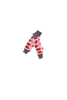Detské oblečenie - Merino návleky do šátku / nosítka : ježek jahoda vel.0-3m - 7865718_