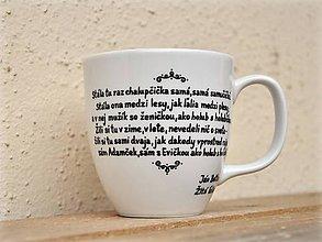 Nádoby - Maľované hrnčeky - Slovenská poézia (Ján Botto: Žltá ľalia) - 7866780_