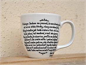 Nádoby - Maľované hrnčeky - Slovenská poézia (Ján Francisci: Krásny Janko) - 7867097_