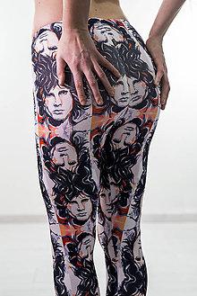 Nohavice - Farebné elastické legíny s motívom autorského obrazu: Jim Morrison - 7864923_