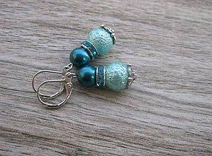 Náušnice - Perlové väčšie (Svetlomodré perlové č.770) - 7866702_