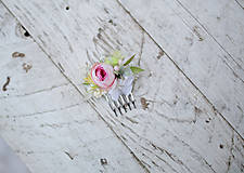 """Ozdoby do vlasov - Svieži jarný mini hrebienok """"bozky v rannej rose"""" - 7864557_"""