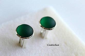 Šperky - Manžetové gombíky Velvet Emerald - 7863036_