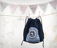 Detské tašky - Lněný batůžek Sova - 7864390_