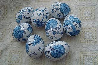 Dekorácie - Veľkonočné kraslice,modrý cibuliak - 7865666_