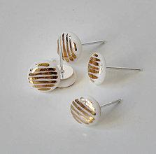 Náušnice - Zlaté mini. - 7863354_