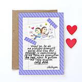 Papiernictvo - E-rande (valentínka s textom) - strapčeky - 7863174_