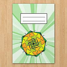 Papiernictvo - Zošity mandaly (zeleno oranžové) - 7864965_