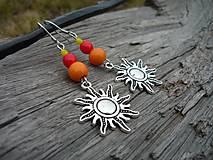 - Náušnice Indiánské Slunce - 7870339_