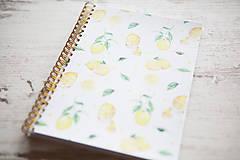 Papiernictvo - Citrónový zápisník / na recepty - 7870947_