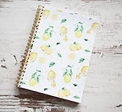 Papiernictvo - Citrónový zápisník / na recepty - 7870948_