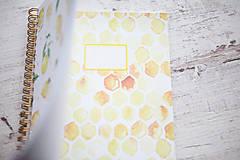 Papiernictvo - Citrónový zápisník / na recepty - 7870951_