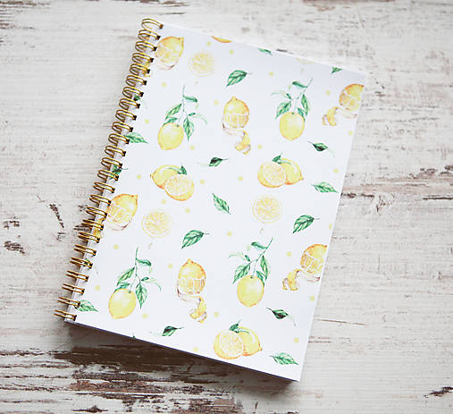 Citrónový zápisník / na recepty