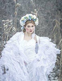 Ozdoby do vlasov - Kvetinová svadobná parta - 7872829_