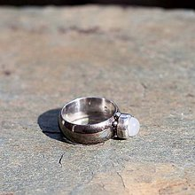 Prstene - Strieborný prsteň - Bobek - 7872062_