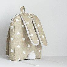 Detské tašky - RUKSAK zajačik, béžový, 2,5r. - 7872533_