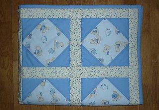 Textil - Deka pre deti - dva varianty (MODRÍ MACKOVIA) - 7870716_