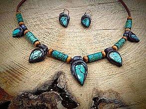 Sady šperkov - set z prírodného Tyrkysu - 7868106_