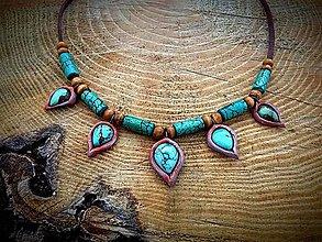 Náhrdelníky - náhrdelník s prírodným Tyrkysom - 7868553_