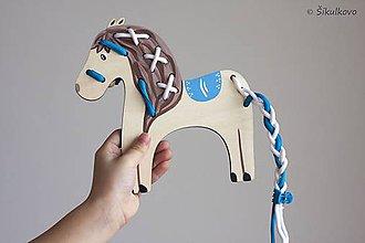 Hračky - Prevliekacia hračka koník modré sedlo - 7871890_