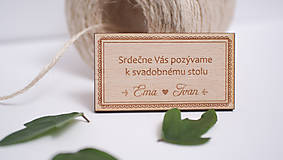 Drevené pozvanie k svadobnému stolu Bratislava