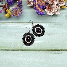 Náušnice - Perles du Strass n.37 - vyšívané náušnice - 7869300_