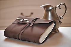 - kožený receptár na želanie pre Beátku - 7870610_