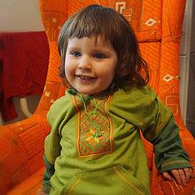 Oblečenie - Mikina vyšívaná Zelená vel.92 - 7869575_