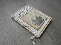 Papiernictvo - Vintage zápisník - Písací stroj - 7871400_