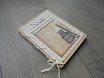 Papiernictvo - Vintage zápisník - Atrament - 7871449_