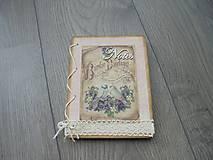 Papiernictvo - Vintage zápisník - Vtáčiky - 7872800_