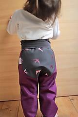 """Nohavice - Softshellky """"pink birds"""" - 7869027_"""