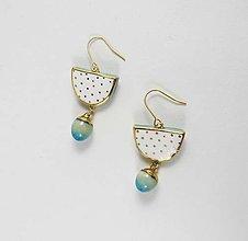 Náušnice - Tana šperky - keramika/zlato - 7871545_