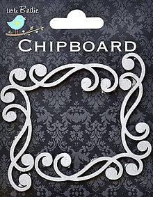 Papier - Elegantné ozdobné rohy (2ks) - vyrezané z lepenky - 7868033_